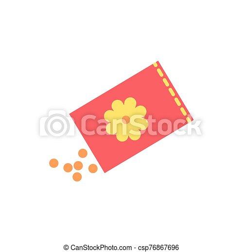 lente, zak, zaden, bloemen - csp76867696