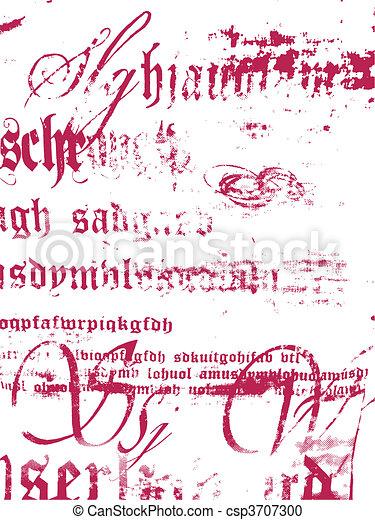 lettering, ontwerp, achtergrond, textuur - csp3707300