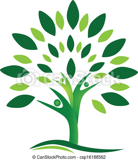 logo, vector, boompje, mensen, teamwork - csp16188562