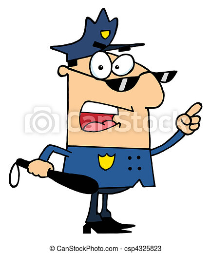 mannelijke , politie, kaukasisch, officier - csp4325823