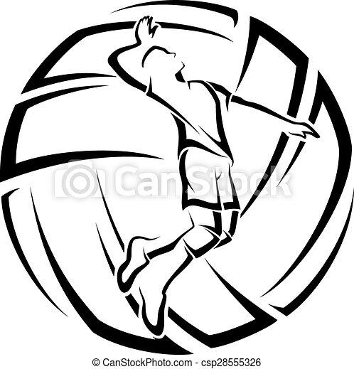 mannelijke , volleybal, accent - csp28555326