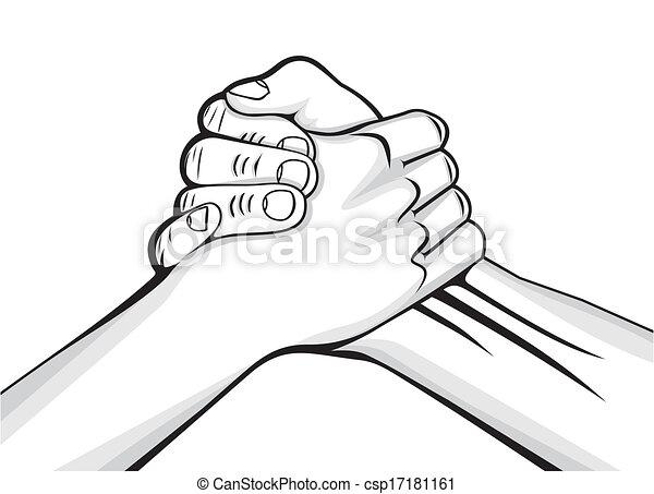 mannetje hands, twee, handdruk - csp17181161