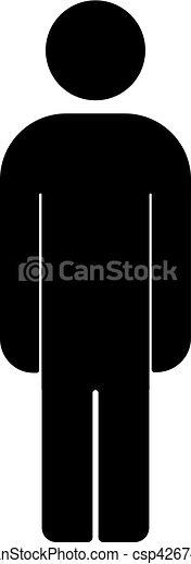 menselijk, mannelijke , icon., symbool., man - csp42674948