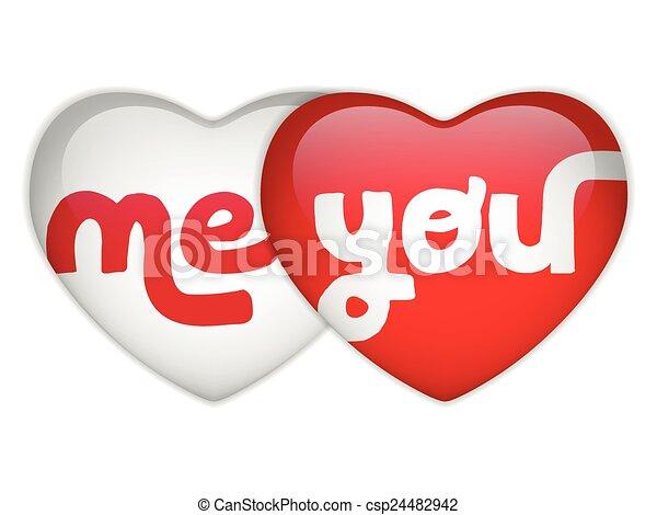 mij, hart, u, dag, valentijn - csp24482942