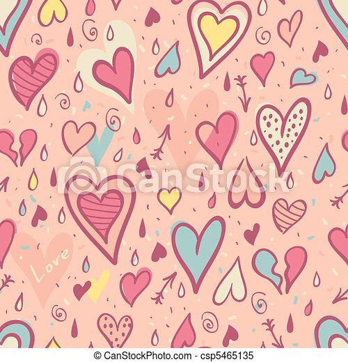 model, valentijn, seamless, hartjes - csp5465135