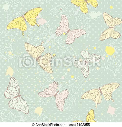model, vlinder, delicaat, seamless - csp17192855