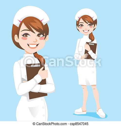 mooi, verpleegkundige - csp8547045