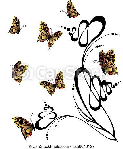 mooi, vlinder - csp6040127
