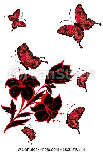 mooi, vlinder - csp6040314