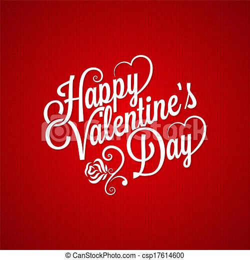 ouderwetse , valentines dag, achtergrond, lettering - csp17614600