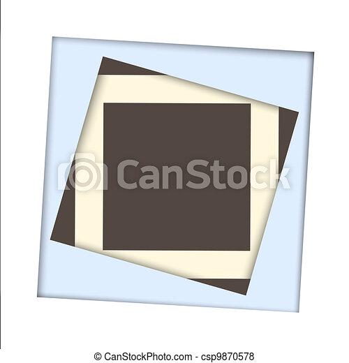 papier, frame, plein, witte achtergrond - csp9870578