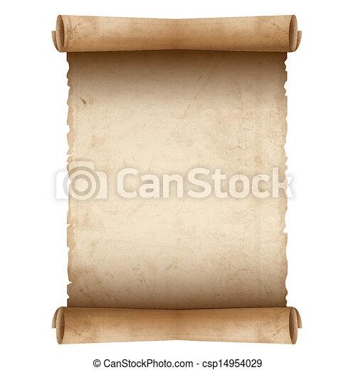 papier, oud, vector, boekrol - csp14954029