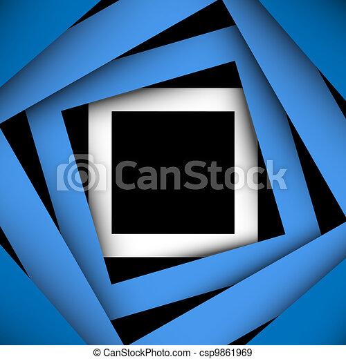 plein, blauwe , papier, achtergrond, frame - csp9861969