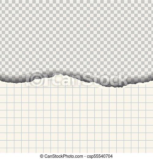 plein, gescheurd document, achtergrond, transparant, schaduw - csp55540704