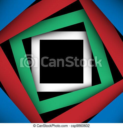 plein, papier, achtergrond, veelkleurig, frame - csp9860602