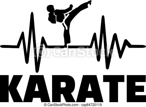 pols, karate, hartslag - csp64720119