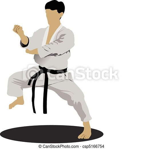 positio, karate., sportsman - csp5166754