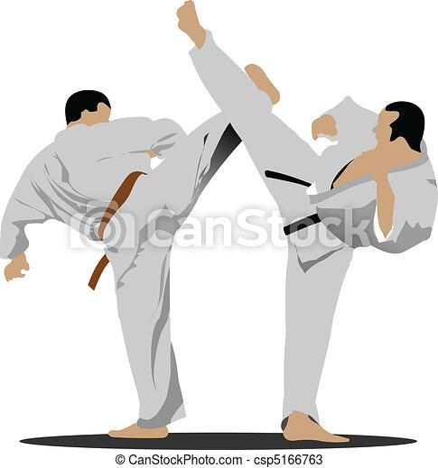 positio, karate., sportsman - csp5166763