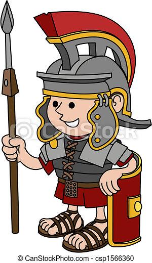 romein, illustratie, soldaat - csp1566360