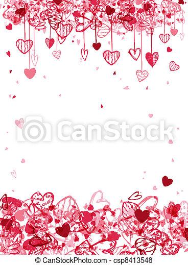 ruimte, tekst, frame, valentijn, ontwerp, jouw - csp8413548