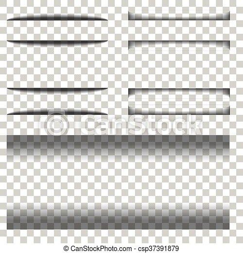 schaduw, papier, transparant, achtergrond - csp37391879