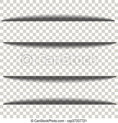 schaduw, papier, transparant, achtergrond - csp37337721