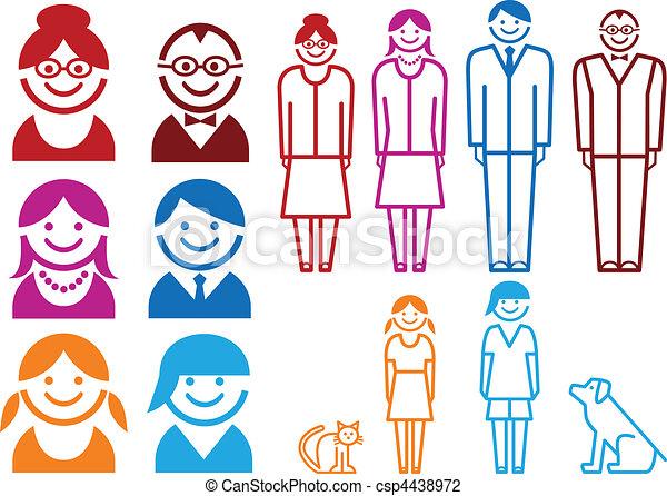 set, gezin, pictogram - csp4438972