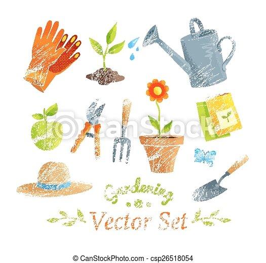 set., uitrustingen tuinierend, vector - csp26518054