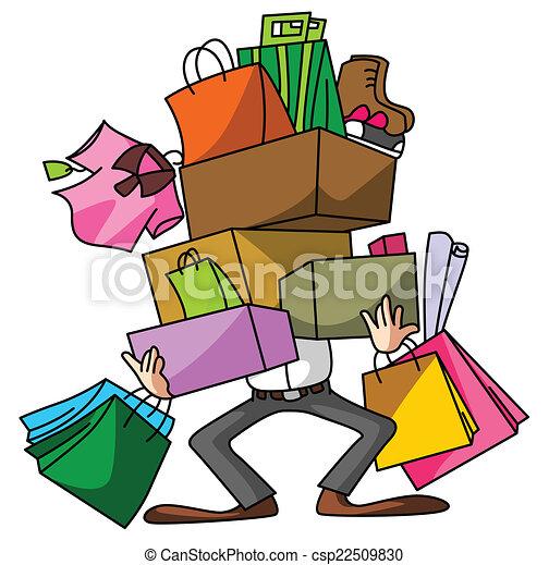 shoppen , echtgenoot - csp22509830