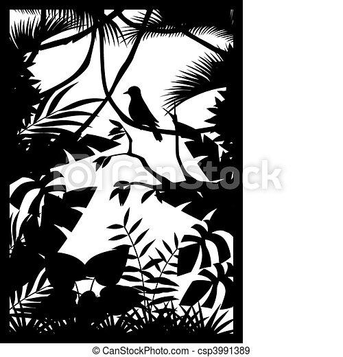 silhouette, bos - csp3991389