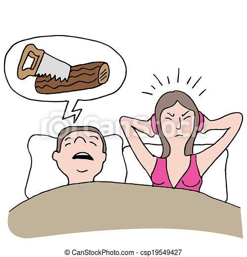 snurken, echtgenoot - csp19549427