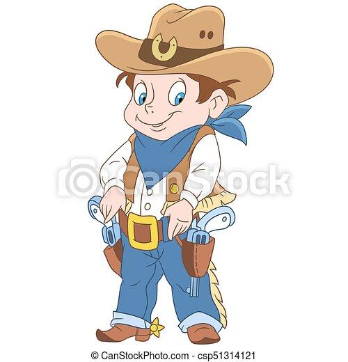 spotprent, sheriff, jongen - csp51314121