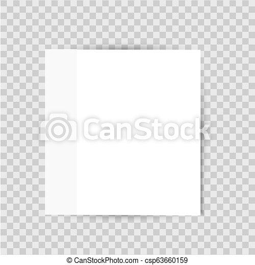 sticker, lijst, papier, achtergrond, schaduw, transparant - csp63660159