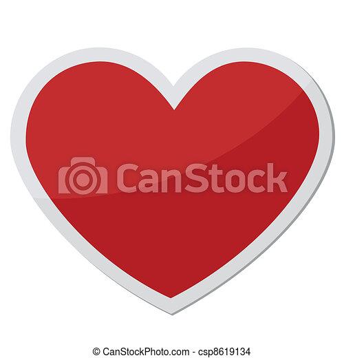 symbolen, hart gedaante, liefde - csp8619134