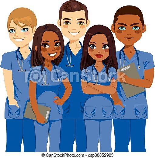 team, verpleegkundige, verscheidenheid - csp38852925