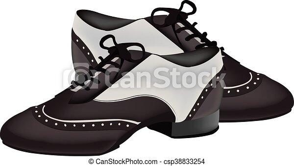 twee-toon, schoentjes, dancing - csp38833254