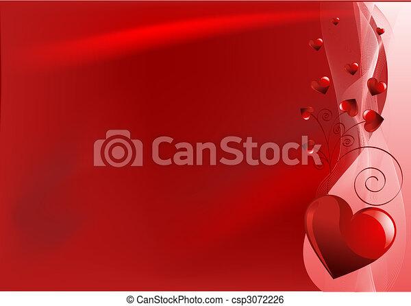 valentine, rode achtergrond, dag - csp3072226