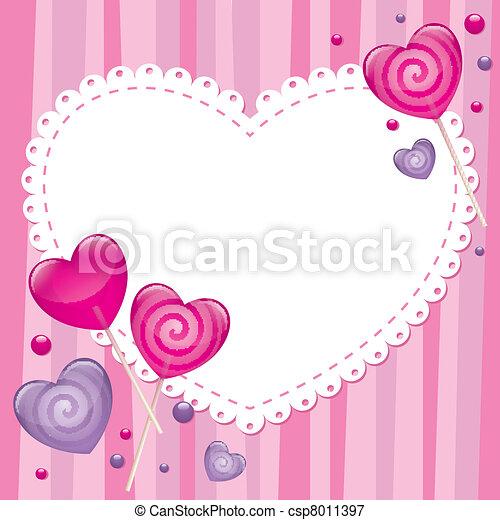 valentine's de kaart van de dag, groet - csp8011397