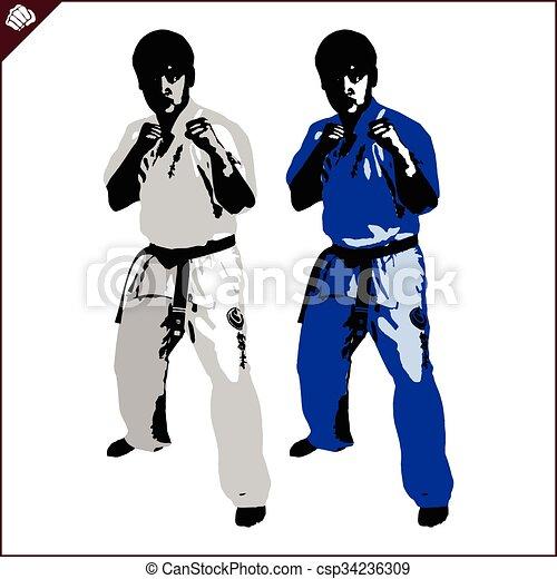 vechter, karate, shinkyokushinkai - csp34236309