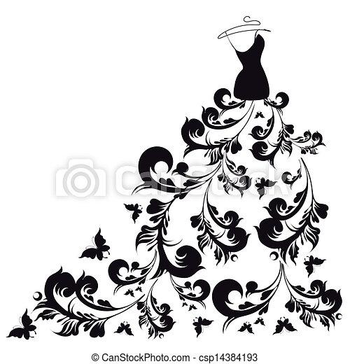 vector, jurkje, trouwfeest - csp14384193