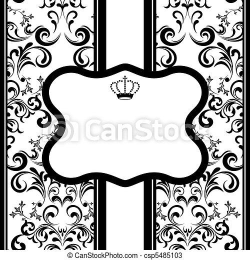 versiering, monochroom, frame - csp5485103