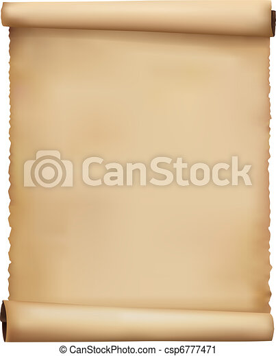 versleten, papier, oud, vector., achtergrond. - csp6777471