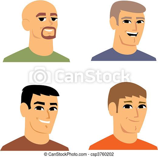 verticaal, avatar, spotprent, illustratie - csp3760202