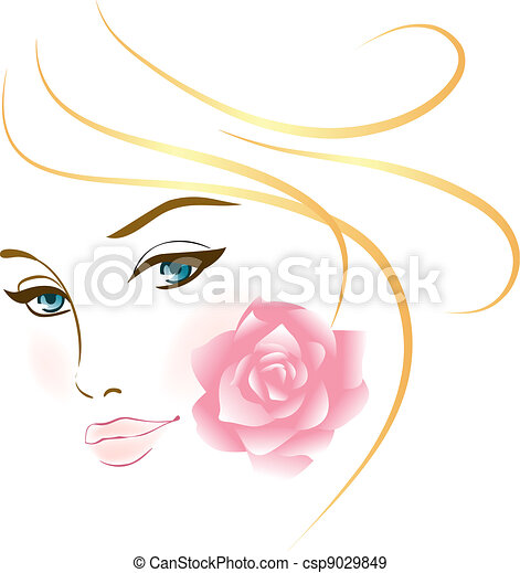 verticaal, meisje, beauty, gezicht - csp9029849