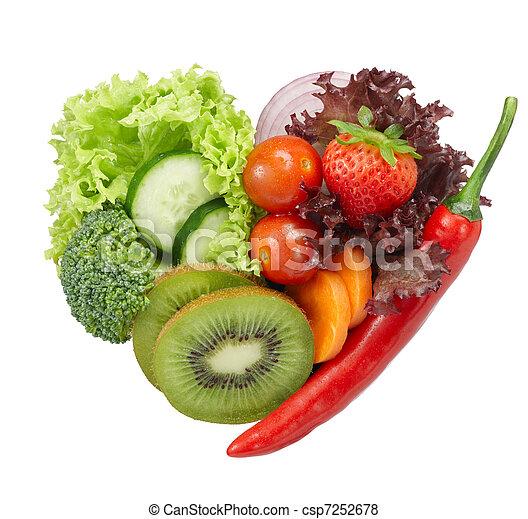 voedingsmiddelen, vegetariër, liefde - csp7252678