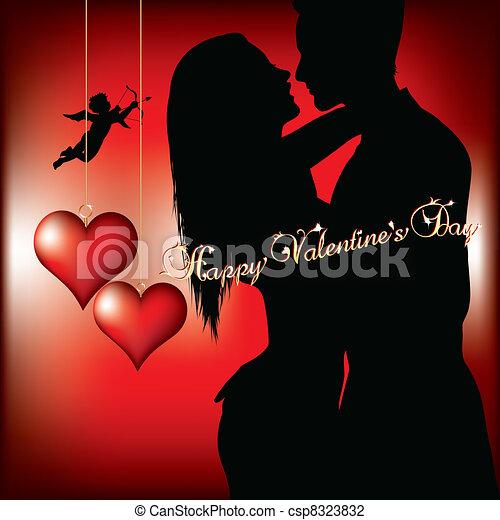 vrolijke , dag, valentines - csp8323832