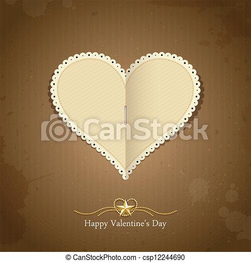 vrolijke , papier, classieke, dag, valentijn - csp12244690