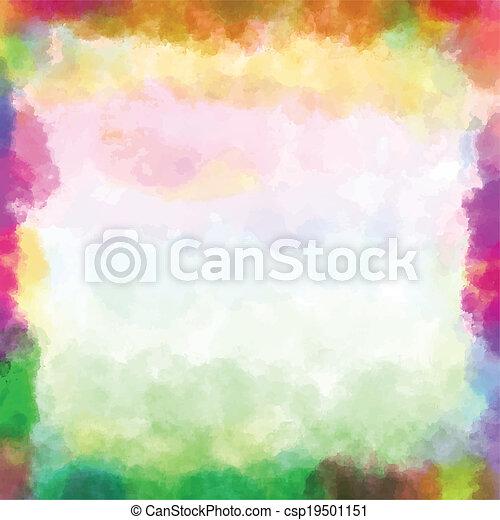 watercolor verf - csp19501151
