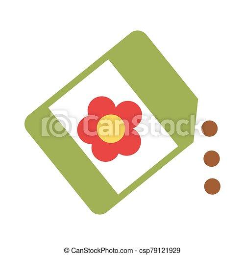 witte achtergrond, zaden, zak - csp79121929