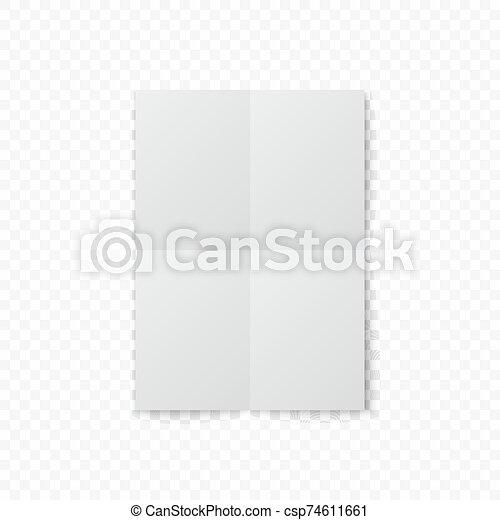 witte , papier, schaduw - csp74611661